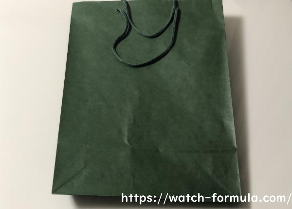 ロレックス 緑色の紙袋
