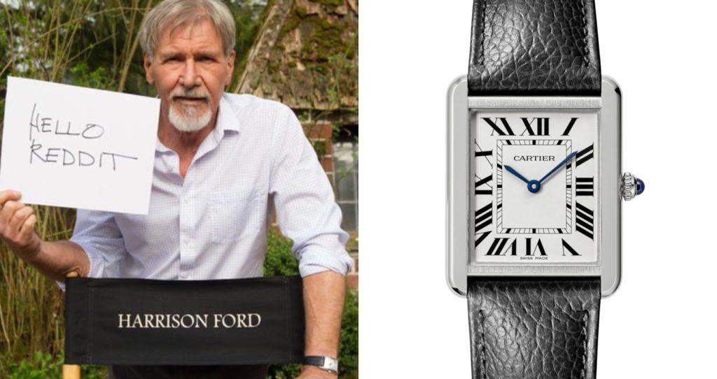 ハリソン・フォード 腕時計 カルティエ